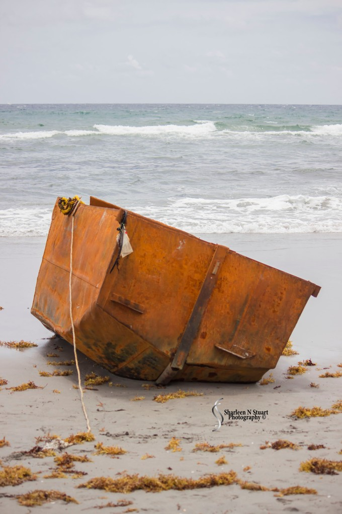 A lonely sight on the beach - shattered dreams
