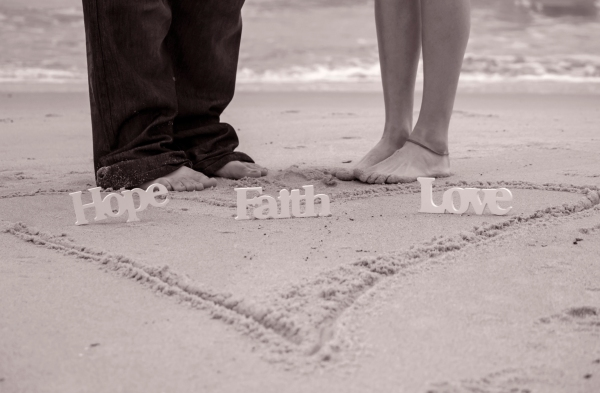 Standing on Faith hope and love