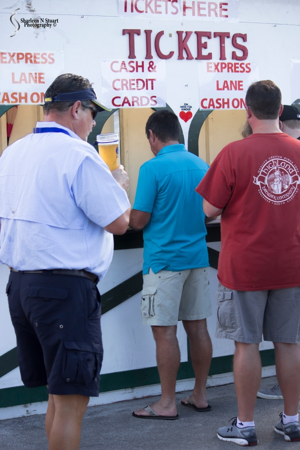 The essential part of attending the Oktoberfest - buying the beer tickets.