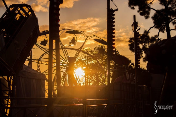 Sunset over the fair grounds