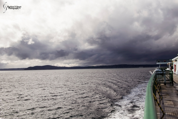 The storm over Bainbridge Island as we were heading back to Seattle