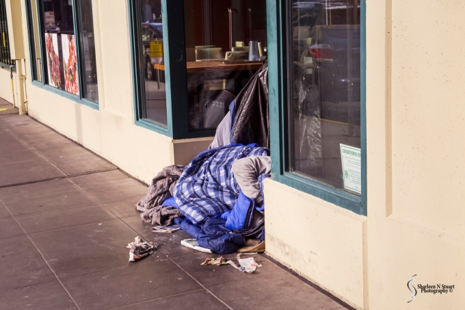 While we did not see a lot of this, there were definitely places where we did see overnight outdoor sleeping by homeless people. Talking to a friend, he said this has become more of a problem in recent years.