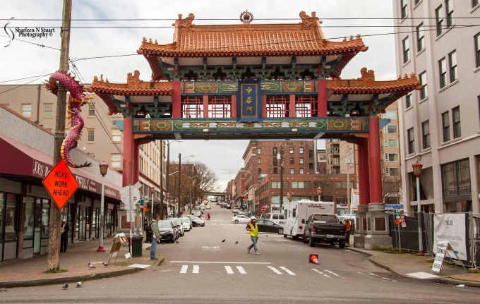 The entrance to Chinatown.