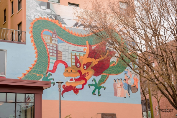 The dragons at Seattle's International Chinatown