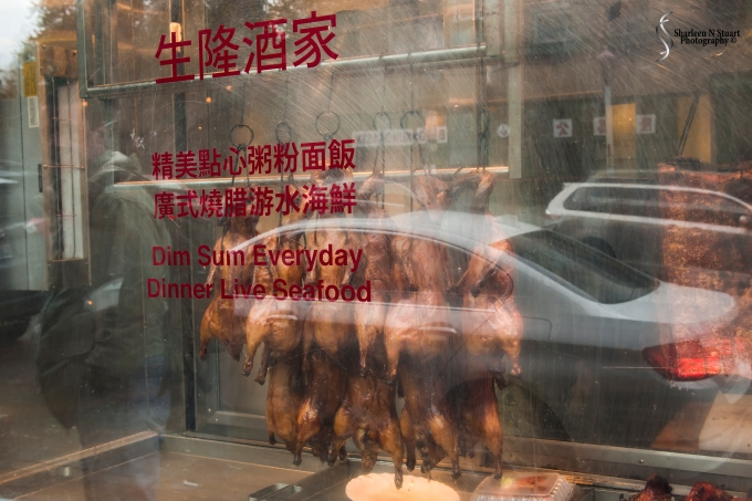 Passing a resaurant in Chinatown