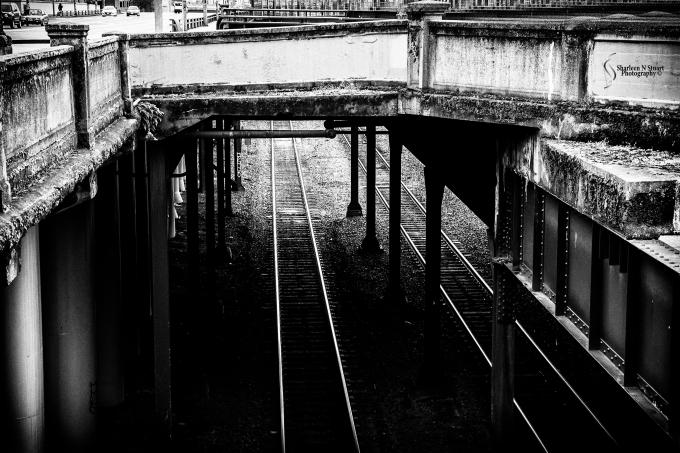 Train lines near Chinatown.