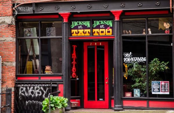 The Tat too parlor on Jackson Street.