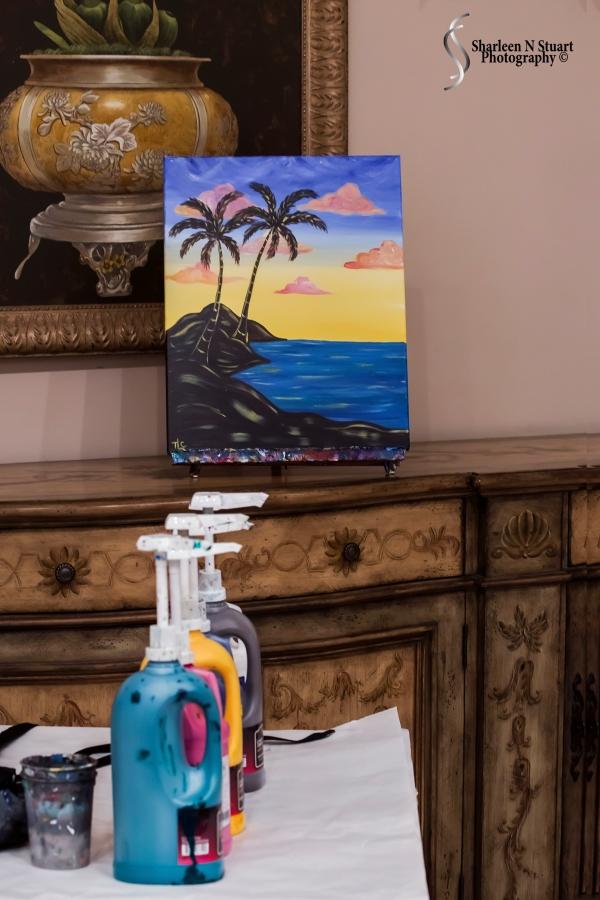 Painting canvas & paints