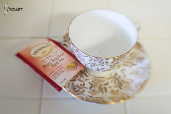 "This tea cup is part of a 12 piece set that was given to my mother on her wedding day. She looked after that set and when the time came she offered it to me for my use. Tea is part of who I am. As a family we drank a lot of tea. Rooibos is my brand of tea. A unique flavor but once I got used to it I could not go back to ""normal"" tea."
